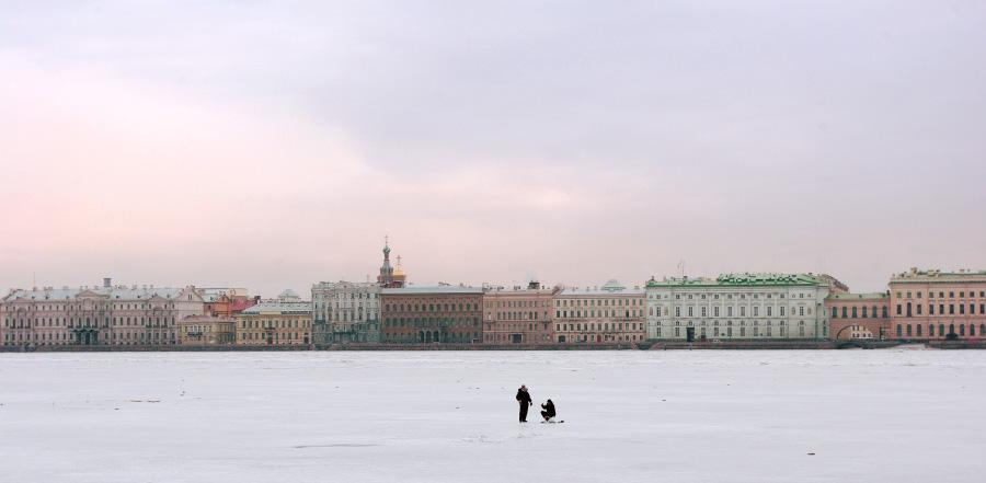 Рыбаки на льду, фото