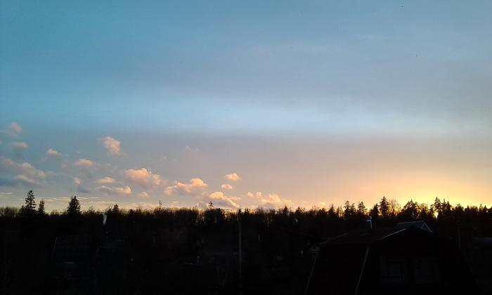 Тучки на закате