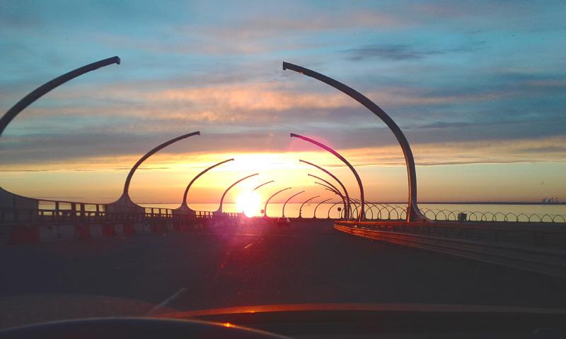 Солнце в заливе